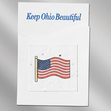 American Flag Seed Paper Pop-Out Booklet