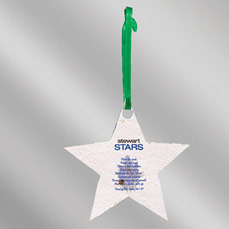 Color Floral Seed Paper Ornament - Star (Imprint)