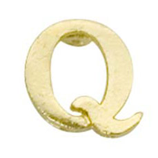 Letter Q Cut Out Cast Stock Jewelry Pin