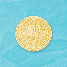 50 Year Stock Service Pin