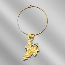"Injection Cast Wine Glass Charm (Up to 3/4"")"
